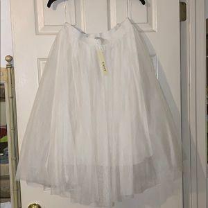 8a55220efe Esley Skirts - NEW Eloise Ivory Tulle Midi Skirt